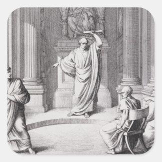 Cicero Denouncing Catiline Square Sticker