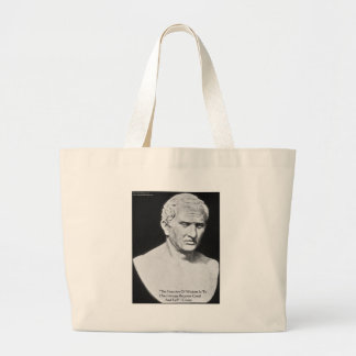 "Cicero ""Good & Evil"" Wisdom Quote Cards & Gifts Large Tote Bag"