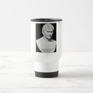 """Cicero """"Good & Evil"""" Wisdom Quote Cards & Gifts Travel Mug"""