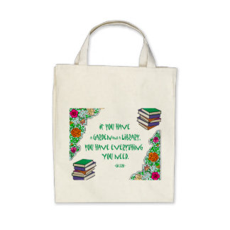 Cicero - If you have a garden and library.. Canvas Bag