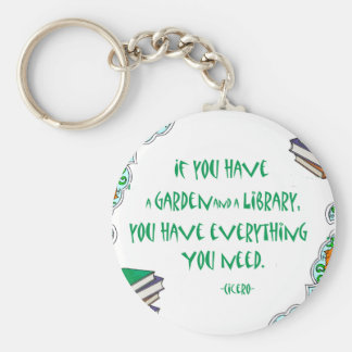 Cicero - If you have a garden and library.. Keychain