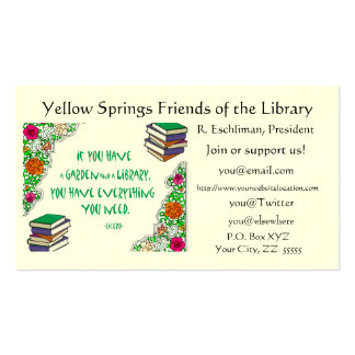 Cicero LIbrary Quote Regular Business Card