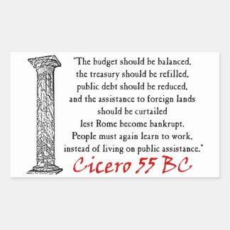 Cicero: People Must Work! Rectangular Sticker
