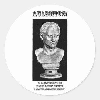 Cicero quiso (el latín) pegatina redonda