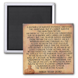 CICERO QUOTE - NATION CANNOT SURVIVE TREASON MAGNET