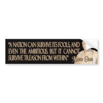 Cicero Quote on Treason Bumper Sticker
