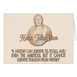 Cicero Quote on Treason Greeting Card