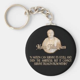 Cicero Quote on Treason Keychain