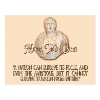 Cicero Quote on Treason Postcard