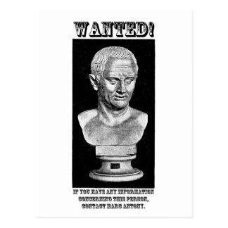Cicero Wanted (English) Postcard