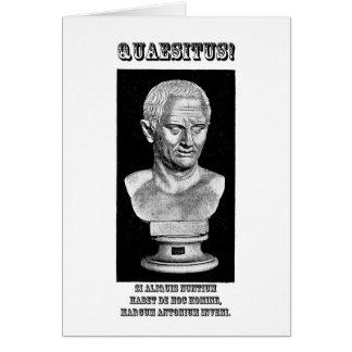 Cicero Wanted (Latin) Greeting Cards