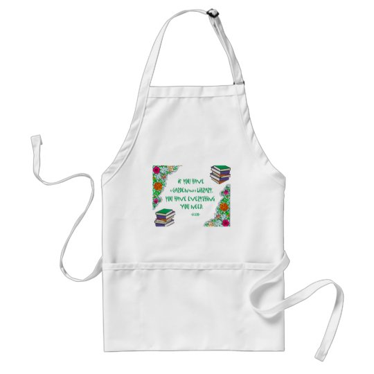 Cicero's quote on libraries adult apron