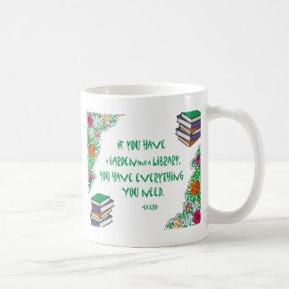 Cicero's quote on libraries coffee mug