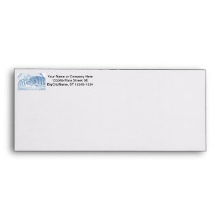 cichlid fish blue and white animal envelope