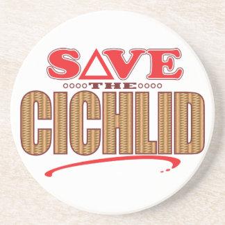 Cichlid Save Sandstone Coaster