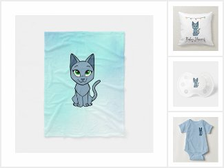 Cici, the Russian blue kitten