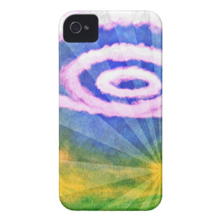 Cicle Clouds iPhone 4 Covers