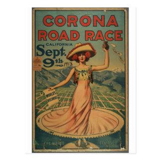 Ciclismo en ruta de la corona - 1913 tarjeta postal