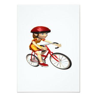 Ciclista 2 de la mujer invitación 12,7 x 17,8 cm