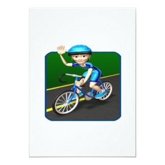 Ciclista 3 de la mujer invitación 12,7 x 17,8 cm