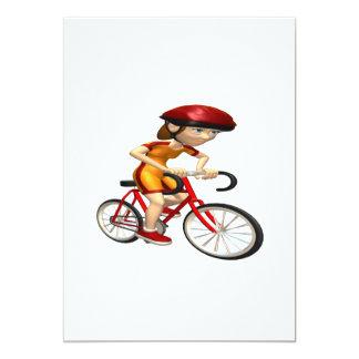 Ciclista 4 de la mujer invitación 12,7 x 17,8 cm