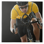 Ciclista Azulejo Cuadrado Grande