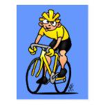 Ciclista - completando un ciclo postales