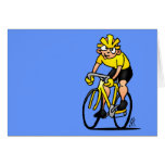 Ciclista - completando un ciclo tarjeta de felicitación