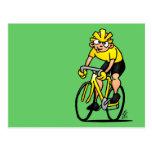 Ciclista - completando un ciclo tarjeta postal