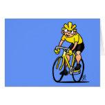 Ciclista - completando un ciclo tarjeton