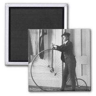 Ciclista Cruz-Vestido, 1890 Imán Cuadrado