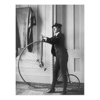 Ciclista Cruz-Vestido, 1890 Tarjeta Postal