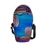 Ciclista de acrílico colorido bolsa de mensajeria