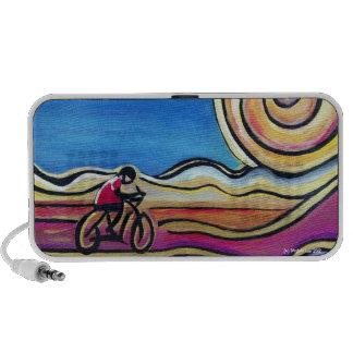 Ciclista de acrílico colorido laptop altavoces