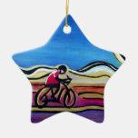 Ciclista de acrílico colorido ornamente de reyes