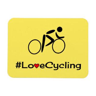 Ciclista de ciclo del lema del amor imanes