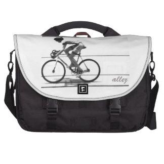 Ciclista de la pista bolsas para portatil