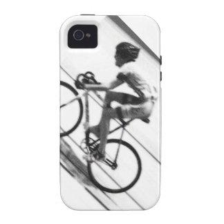 Ciclista de la pista iPhone 4 funda