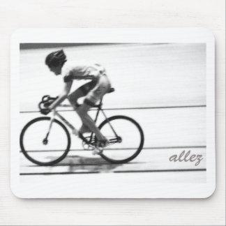Ciclista de la pista tapete de ratones