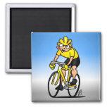 Ciclista de la velocidad - completando un ciclo imán cuadrado