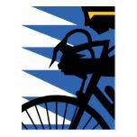 Ciclista del arte pop tarjetas postales