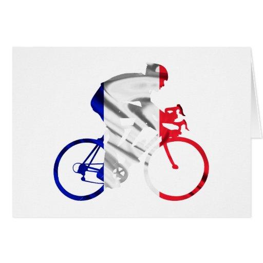 Ciclista del Tour de Francia Tarjeton