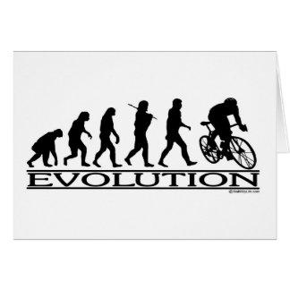 Ciclista del varón de la evolución tarjeta de felicitación