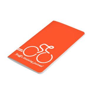 Ciclista/deportes que entrenan a blanco anaranjado cuadernos grapados