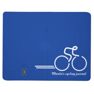 Ciclista/deportes que entrenan a blanco azul del d cuadernos grapados