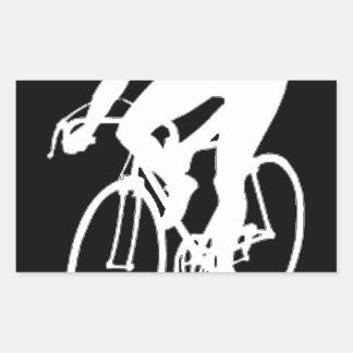 Ciclista el competir con de camino rectangular altavoces