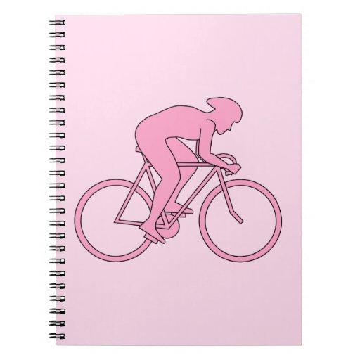 Ciclista en rosa cuadernos