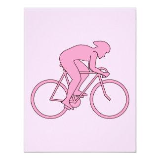 Ciclista en rosa comunicado