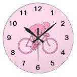 Ciclista en rosa relojes