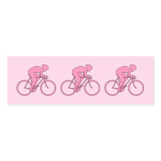 Ciclista en rosa tarjetas de visita mini